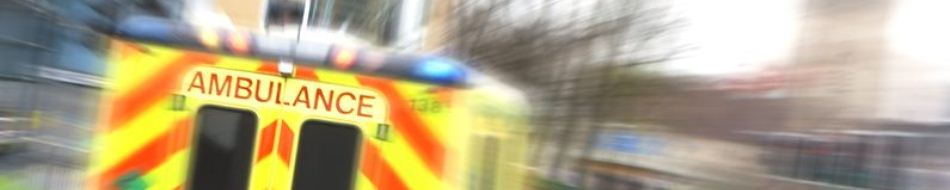 Back doors of ambulance